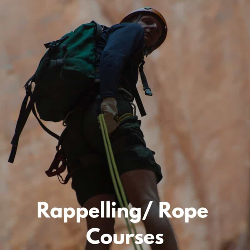Rappelling & Rope Courses